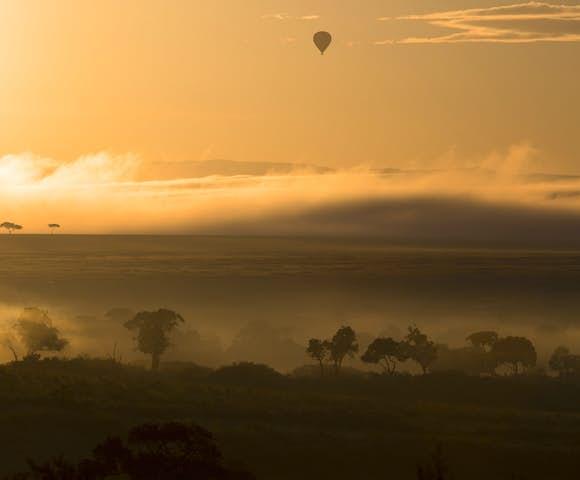 Maasai Mara landscape at sunrise, Kenya