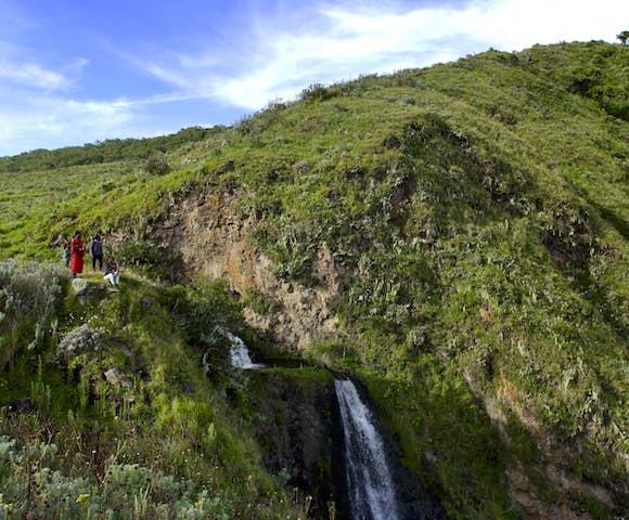 Waterfall at Ngorongoro Conservation Area, Tanzania